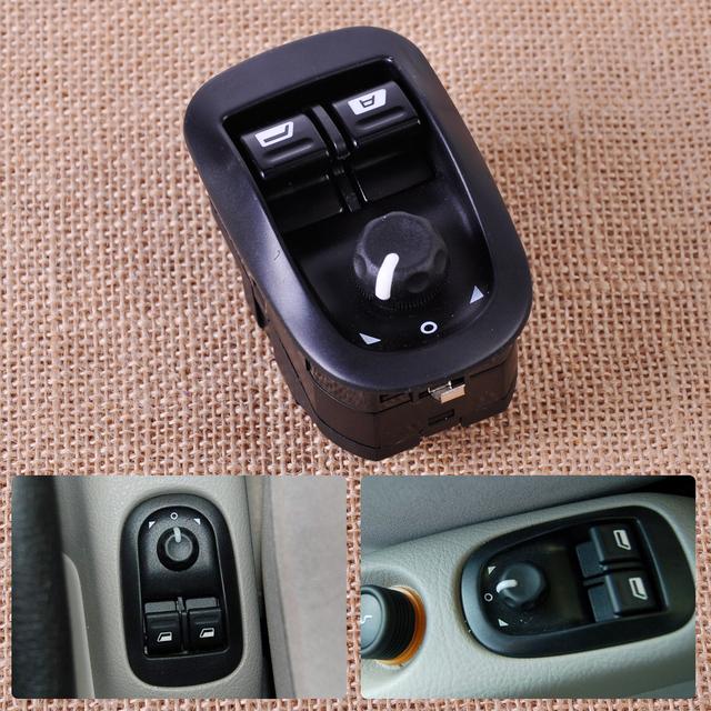 Mestre Interruptor Da Janela de Energia elétrica Controle de Botão do Windows Interruptor Espelho 6554.WA Serve para Peugeot 206 2002 ~ 2013 2014 2015 2016