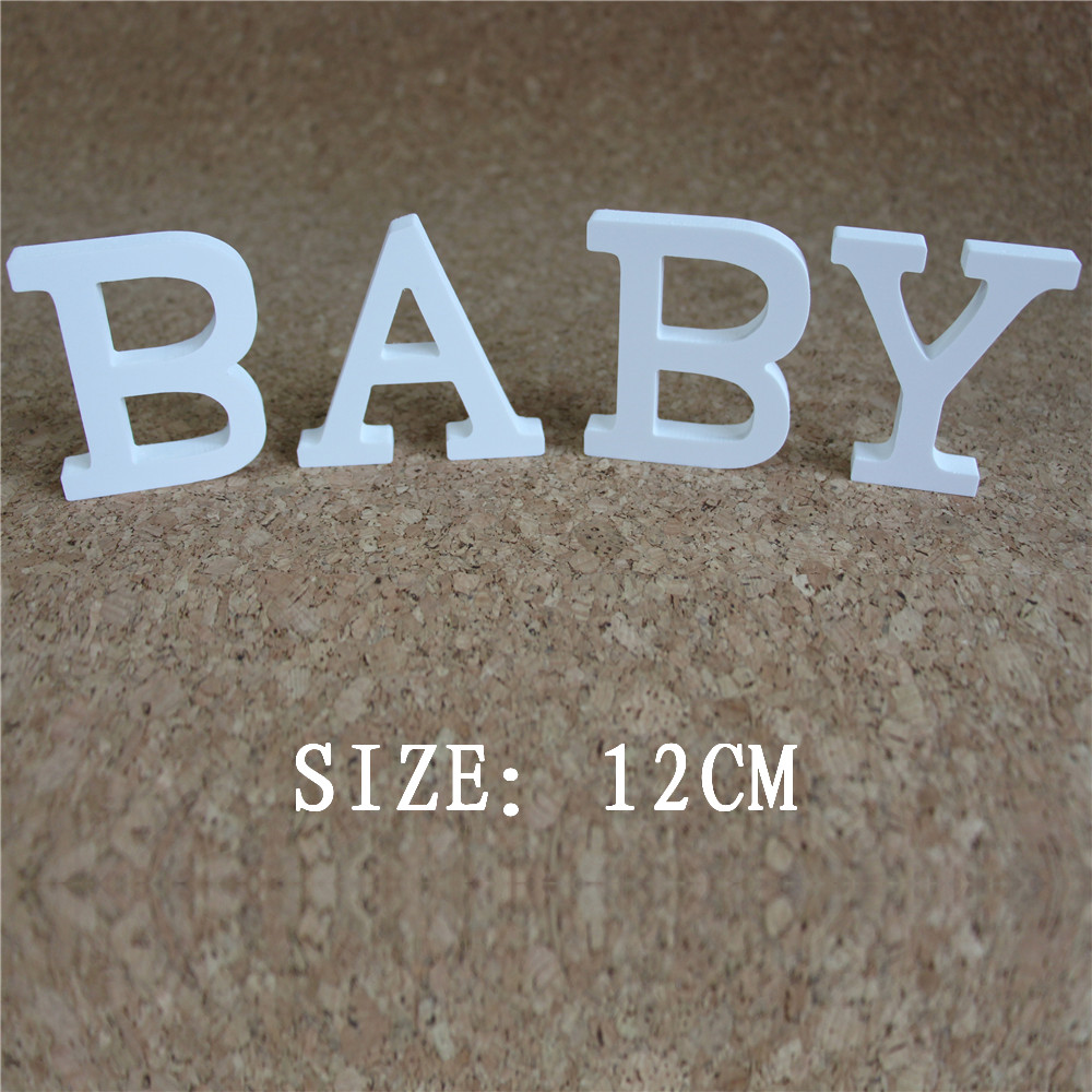 12cm Umělá dřevěná písmena Digitální číslo pro svatební dekorace k narozeninám Umělé dřevěné motýlkové korunky srdce Diamantový prsten