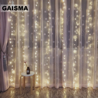 6M x 1.5M LED Curtain Lights Garland Christmas Fairy Lights Party New Year Wedding Decorations Holiday Lighting Outdoor