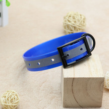 ФОТО waterproof reflect pet dog collar tpu+nylon combination collars anti dirty easy to clean for big small dogs pet products