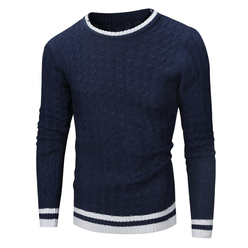 Spring Men Knitted Sweaters O-Neck Jumper Men's Cotton Pullover Knitting White Black Navy Grey Beige Sweater Brand Clothing