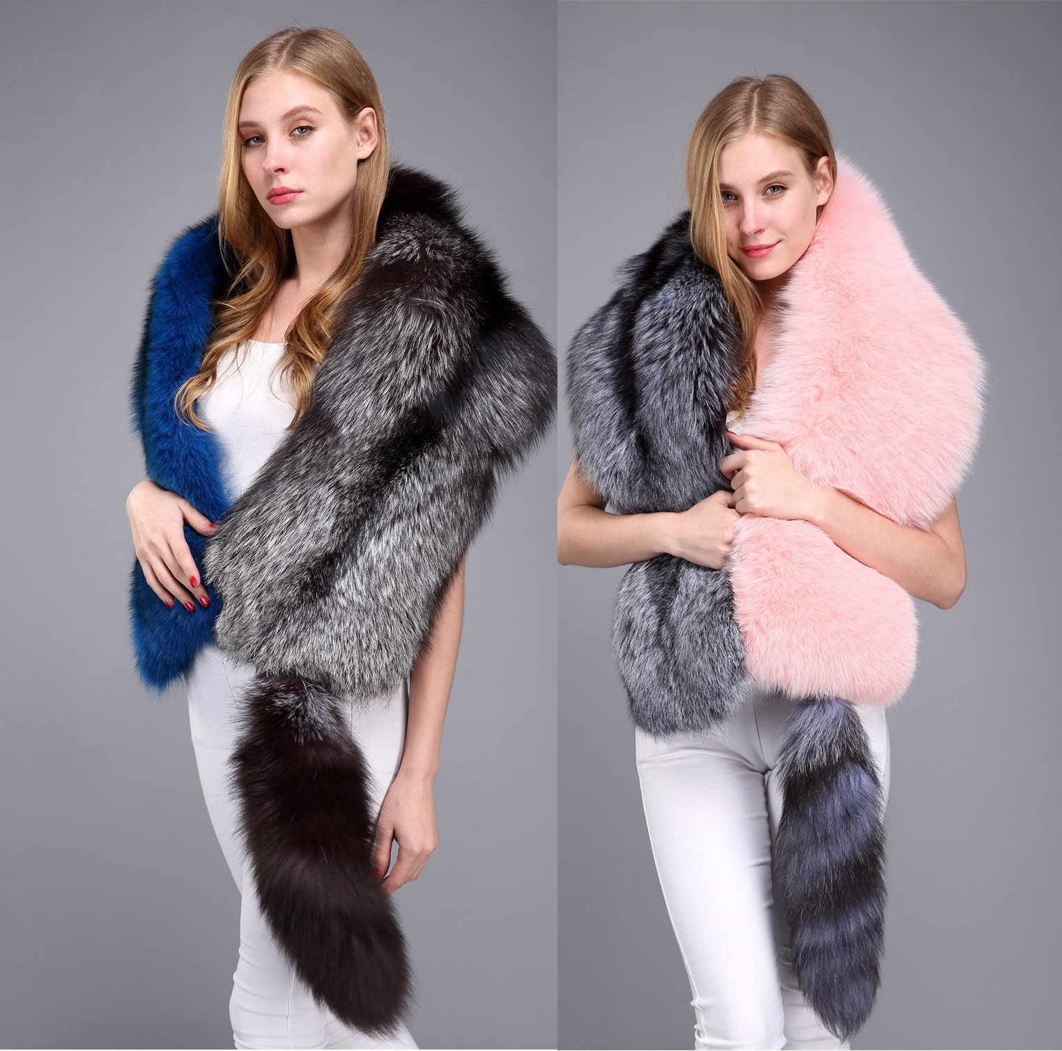 WT-039 New Fashion Women's Clothes Ladies Furry Scarf High imitation mink fur shawl cloak bride Scarves & Wraps