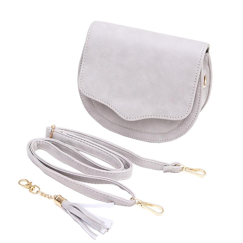 Women Mini PU Leather Crossbody Bags Tassel Shoulder Bag Designer Handbags Female Messenger Bag