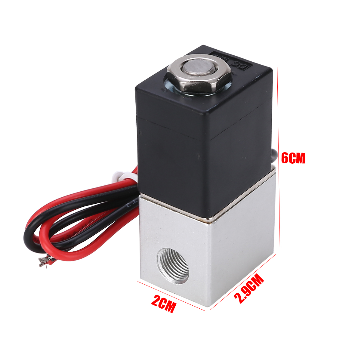 "DC 12V Solenoid Valve 1/8"" Normally Closed 2 Way Quick Release Pneumatic Valves For Water Air Gas Liquid Solenoid Valve"