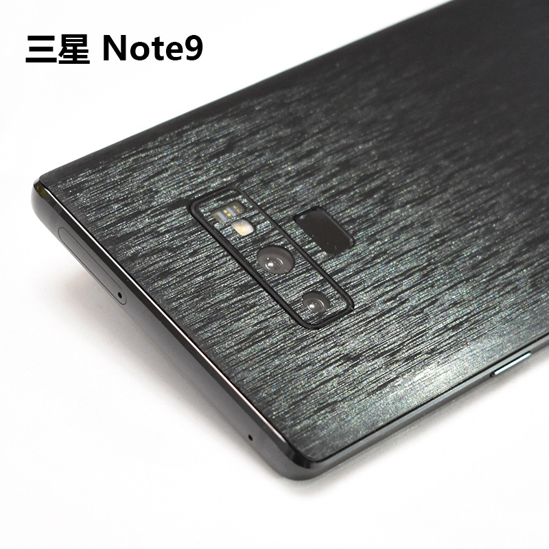 Metal Wire Drawing Decorative Back For Samsung Galaxy Note 9 Mobile Phone Protector Note9 Back Film Stickers With Tracking