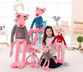 Candice guo! Hote sale super cute plush toy pink panther T-shirt dress stuffed toy doll birthday gift 1pc