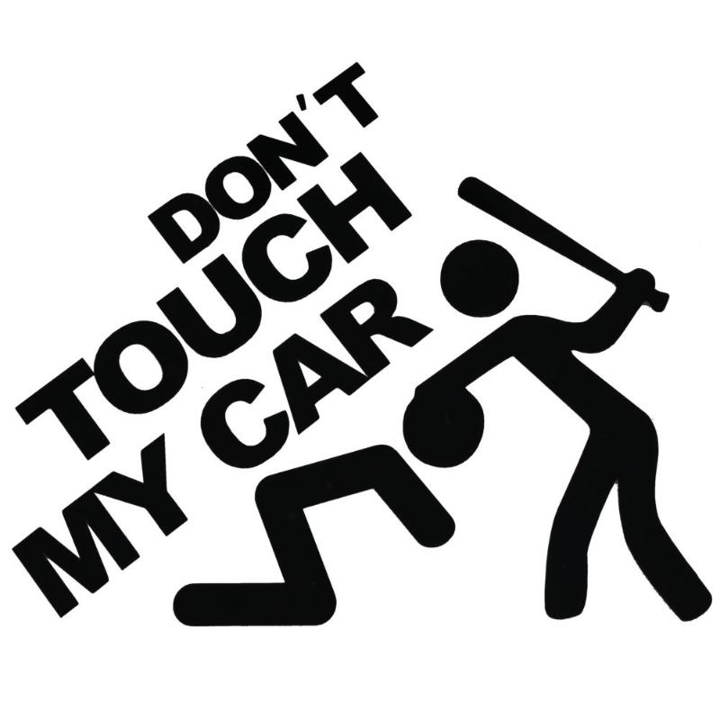 DONT TOUCH MY CAR Words Reflective Window Trunk Car Sticker Dont Vinyl Decals Car Stytling Auto Figuras En 3d Autos Accessores