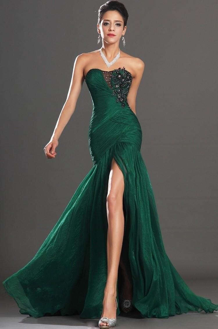 Vestito da sera lungo verde