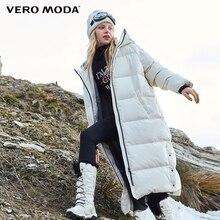 Vero Moda пуховик пуховик женский женский парка женская зимняя куртка для женщин длинный пуховик с капюшоном | 318412527