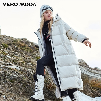 Vero Moda 2019 New Hooded Oversize 90% White Duck Down Long Down Jacket | 318412527