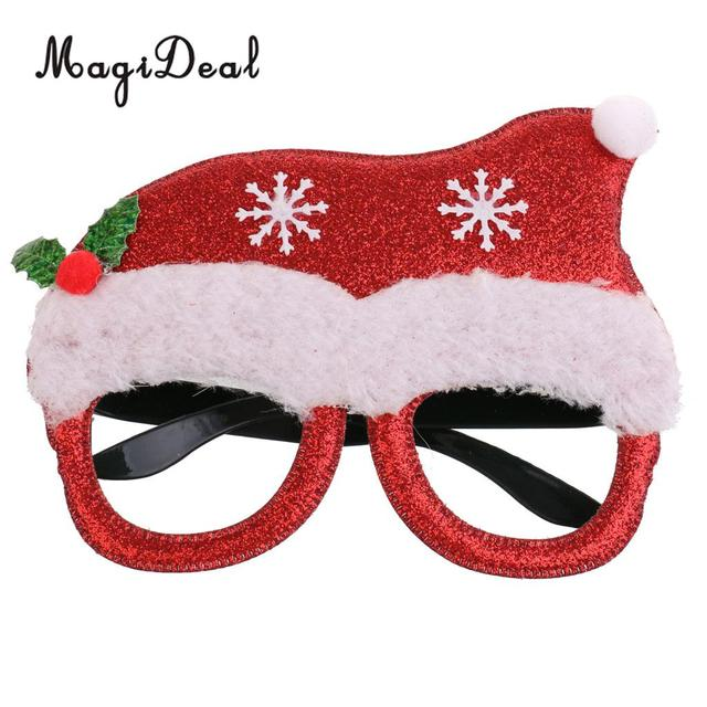 eb1cddc5feeb1 Glitter Christmas Santa Hat Party Glasses Eyeglasses Costume Fancy Dress