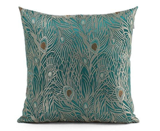 #349  New Fashion Chinese Blue Color Peacock Design  Cushion Without Filling Sofa Bed Home Room Dec Wholesale