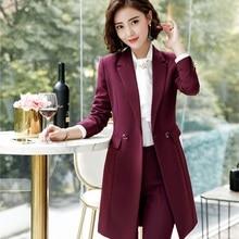 Элегантные винные новые британские стили весна осень Формальные блейзеры и куртки пальто средней длины Блейзер женские Топы Верхняя одежда Одежда