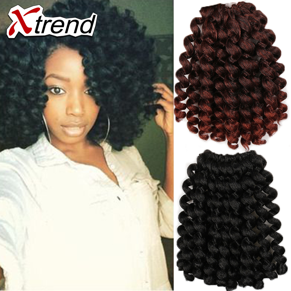 Curly synthetic braids