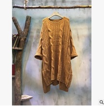 New product release in the fall of 2016, the original design knitting cotton   loose big yards of women's sweaters