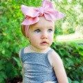 Moda bebê meninas Headwraps Top de cor sólida cabeça arco crianças crianças DIY acessórios de cabelo Headwear turbante