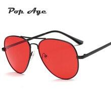 Pop Age 2018 New Candy Color pilot Sunglasses Women Men Brand Designed Metal Pilot Sun Glasses Luxury Lunettes de soleil 400UV