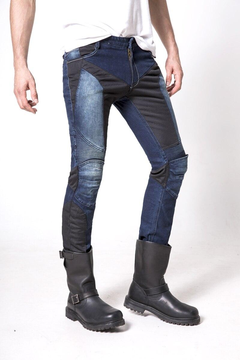 uglyBROS JUKE UBP-01 mesh blue riding pants / slacks / jeans Motorcycles / summer men's jeans uglybros vegas jeans hidden side of the knee motorcycle riding motorcycles jeans trousers blue