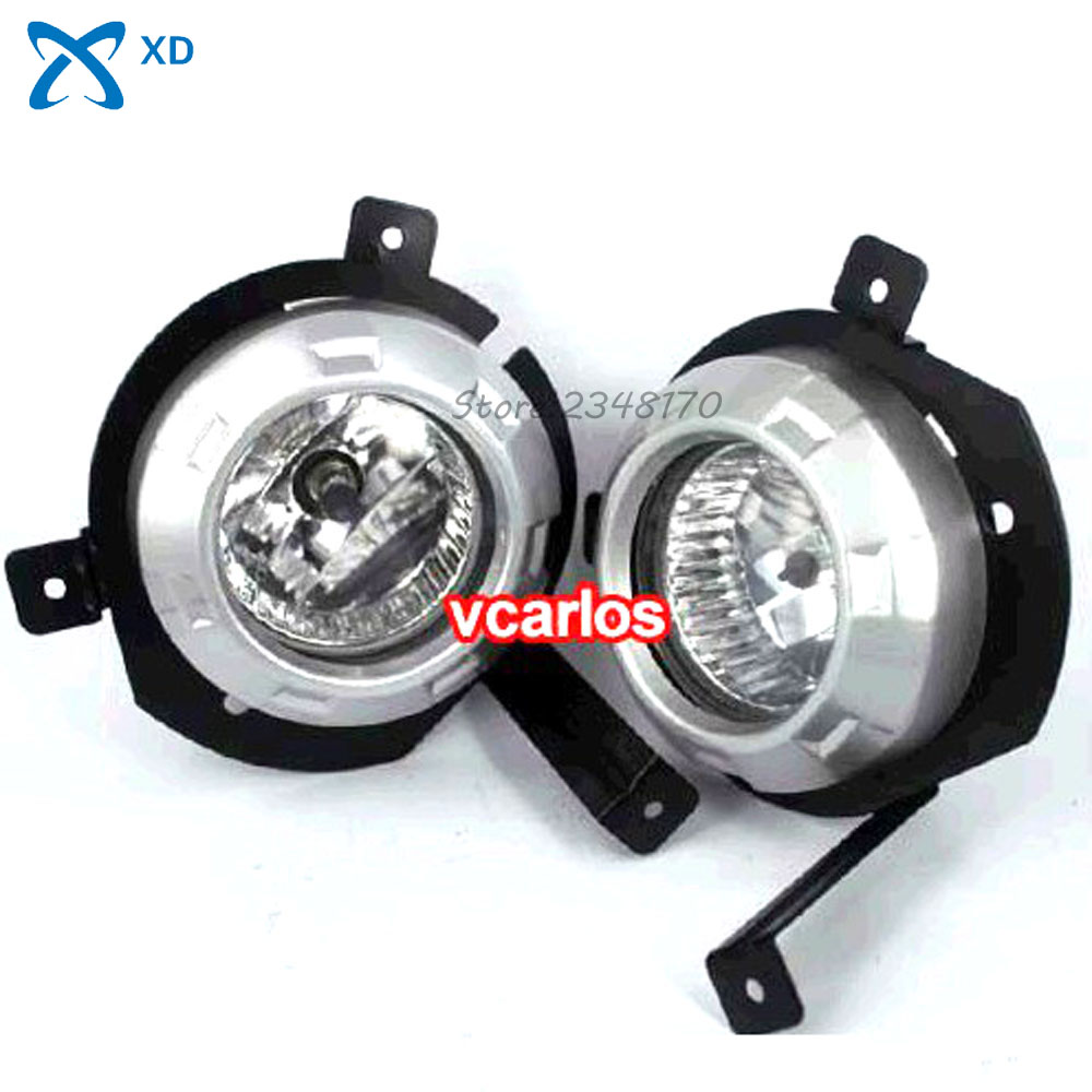 12V 55W Fog Lights lamp for MITSUBISHI TRITON L200 2006~2008 ~ON Clear Lens PAIR SET + Wiring Kit fog light set Free Shipping ветровики prestige mitsubishi l200 triton strada 99 06