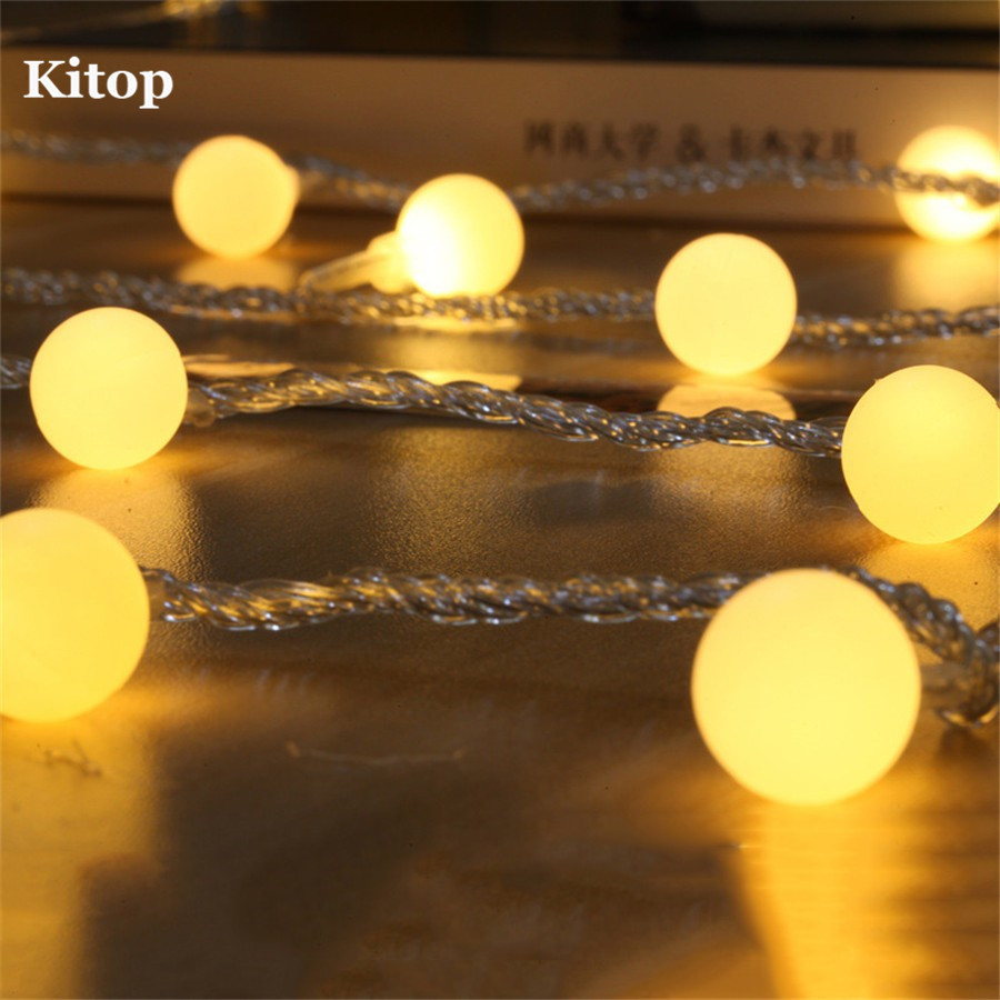 Kitop 5m 40 Leds Ball Solar Led Flexible Rope Light String Waterproof Outdoor Decoration Lamp For