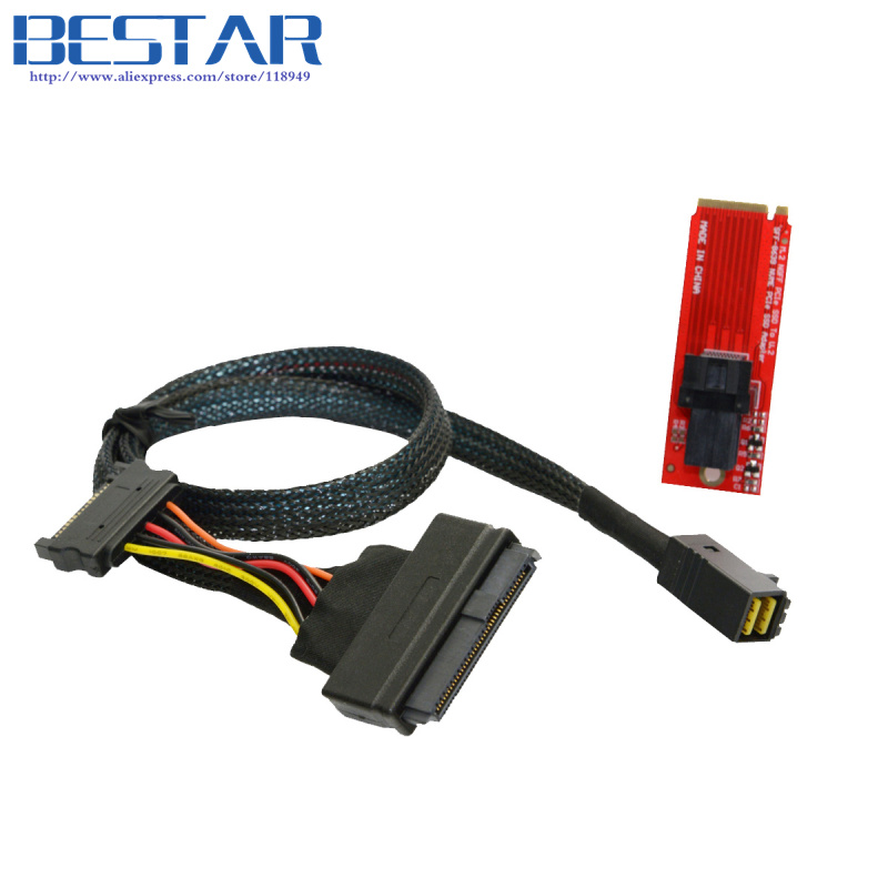 U.2 U2 Kit SFF-8639 NVME PCIe SSD Adapter & Cable for Mainboard Intel SSD 750 p3600 p3700 M.2 SFF-8643