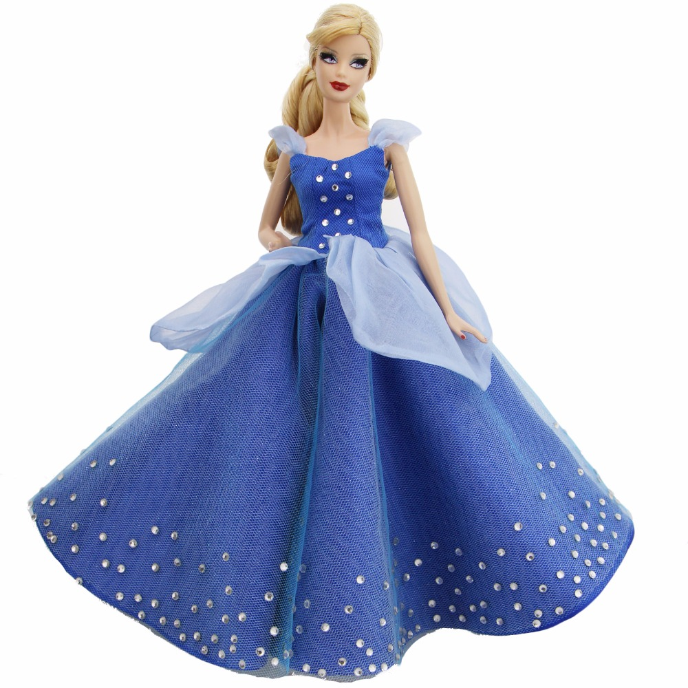 1 Pcs High Quality Fairy Tale Dress Copy Cinderella Princess Gown Party Wear Clothes For Barbie Doll FR Doll Accessories Gifts retro style pin buckle wide belt for women