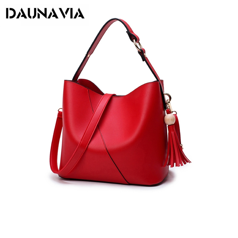 Women Shoulder Bags Fashion Bucket Handbag Ladies Tassel Bags Female PU Leather Big Bag Luxury Handbags women's messenger bag women bag set top handle big capacity female tassel handbag fashion shoulder bag purse ladies pu leather crossbody bag
