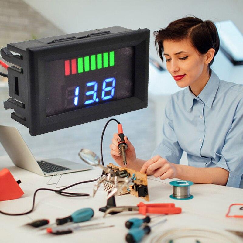 12 В/24 В свинцово-кислотный дисплей батареи Вольтметр Счетчик Электроэнергии Измеритель с цифровым дисплеем точный индикатор уровня заряда транспортного средства