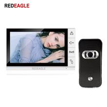 REDEAGLE Home Security 9 inch TFT Monitor Video Door phone Intercom System Wired 700TVL Color Outdoor Doorphone Camera цена 2017