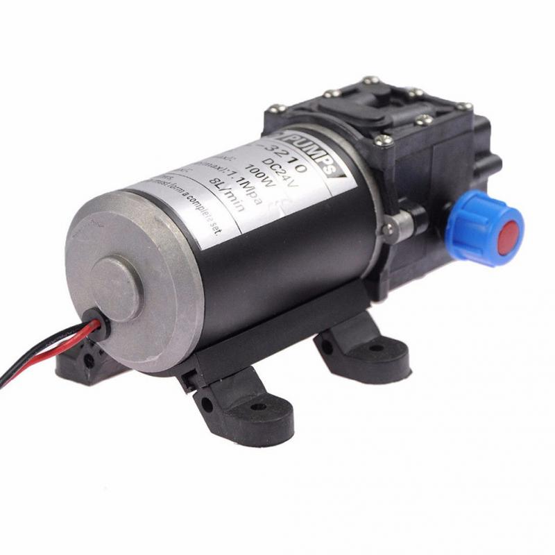 Self-Priming DC 12V 100W 8L/min Agricultural Electric Water Pump Black Micro High Pressure Diaphragm Water Sprayer Car Wash 12V 160psi 8l min dc 100w water diaphragm pump 24v