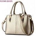 Flying birds! bolsas de couro das mulheres da marca bolsa de ombro mulheres bolsas de couro mensageiro sacos de alta qualidade rebite bolsas LS4652fb