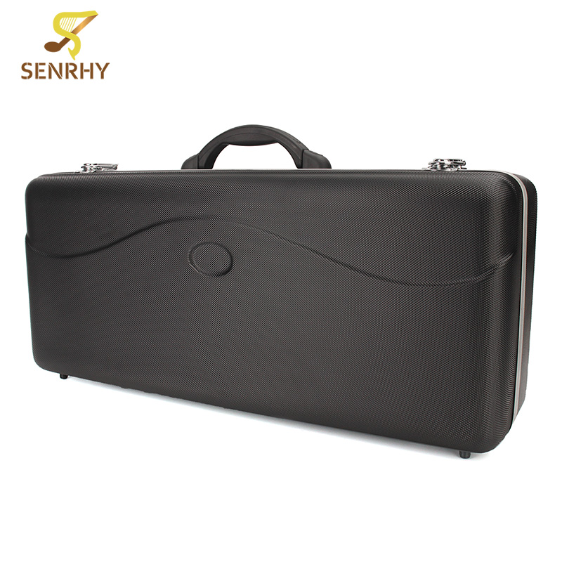 New Alto Saxophone Case Orchestral Instrument Luggage ABS Material Lightweight Rugged Black Alloy Edge Suitcase alto mick dual shoe bag black