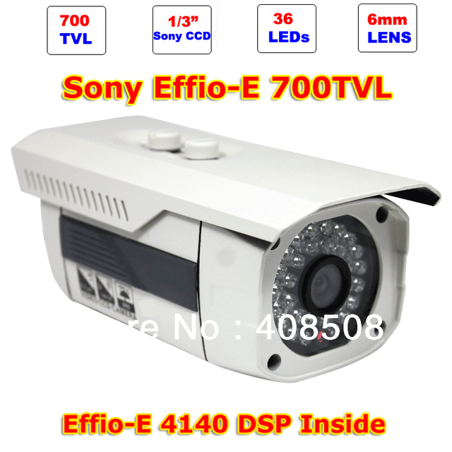"New 700TVL 1/3"" CCD Sony Effio-E 4140 + 811AK IR Array 36 LEDs Waterproof Surveillance CCTV camera Bullet Camera IR Distance 30m"