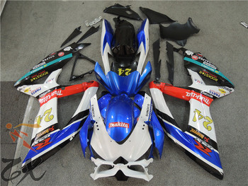 free shipping For  K8  GSXR600 08 09 10    GSXR750 08-10   GSX R600  750 GSXR 600 750 2008 2009 2010 Fairing uv zxmt