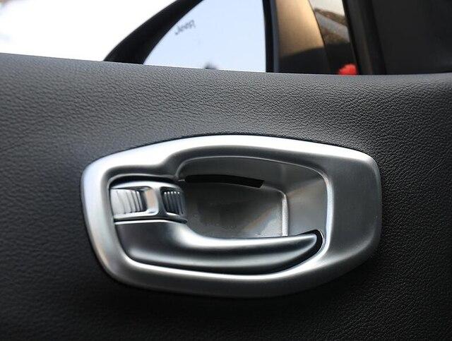 Matte ABS Chrom/carbon faser farbe Zubehör Innen Innen Türgriff Schüssel Rahmen 4 stücke für Jeep Kompass 2017 2018