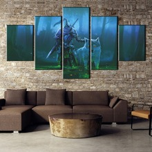 Game Dark Souls For Painting Canvas Wall Art HD Print Home Decor Picture 5 Piece Living Room
