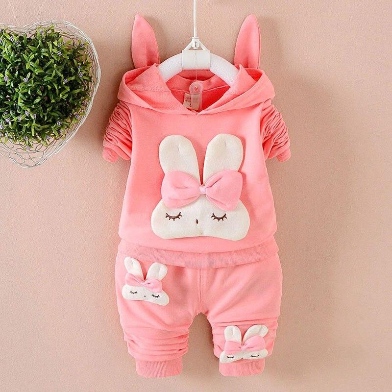 Herbst baby mädchen kleidung sets outfits mit kapuze sweatshirt + hosen trainingsanzug für neugeborenen baby mädchen anzug kostüm kleidung sets