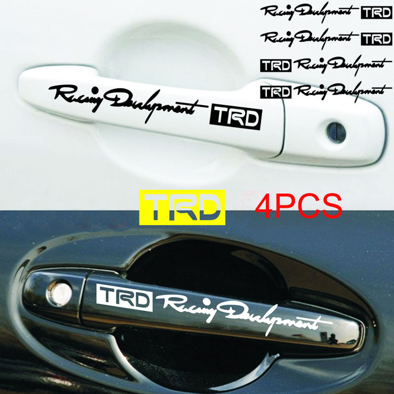 Car-Door-Handle Decal Car-Stickers Character-Decoration TRD Reflective Personality 4pcs/Set