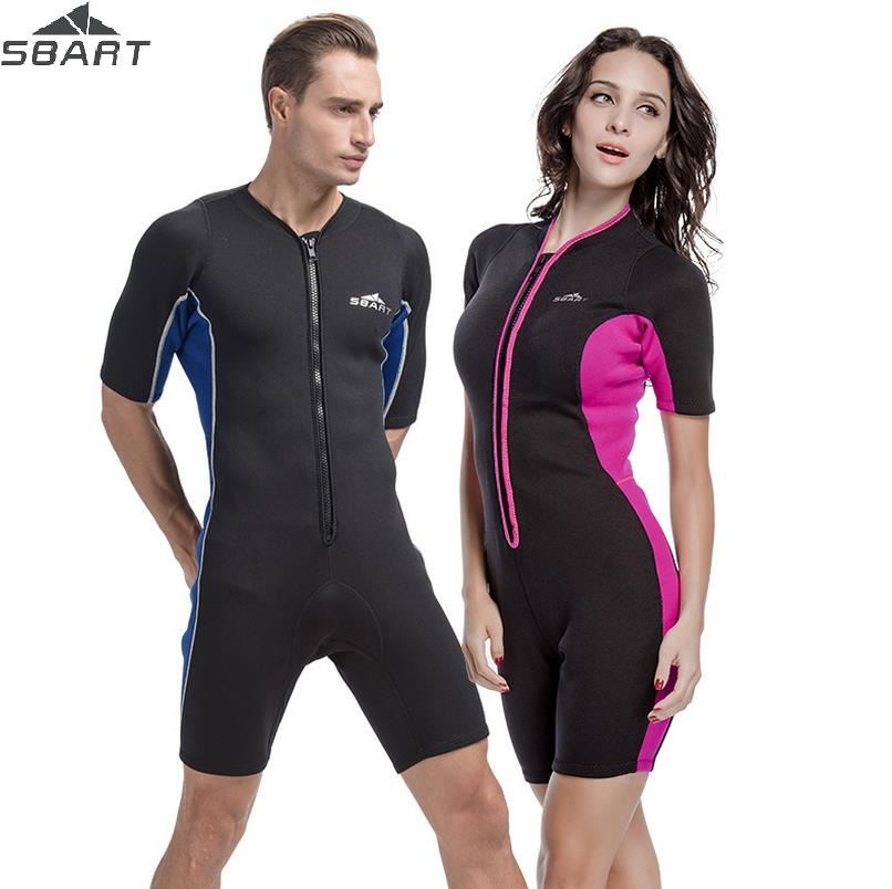 SBART 2MM Neoprene Surf Wetsuit One-Piece Diving Suit Round Collar Swimwear Wet Suits Dive Men Womens Rash Guard Free Shipping 2017 long sleeves swimwear rashguard surf clothing diving suits shirt swim suit spearfishing kitesurf men rash guard