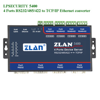 4 port Serial to Ethernet Converter RS232/RS485/RS422 to TCP/IP Support Extension Modbus TCP to RTU Multi serial Device Server