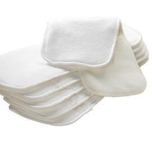 Супер Сухая ткань моющиеся вставки хлопок пеньковый флис для gPants gподгузники(упаковка из 10 шт