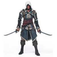 Hot NEW 1pcs 18cm Macfarlane Assassins Creed 4 Black Edward Kenna Haytham Kenw Connor Action Figure