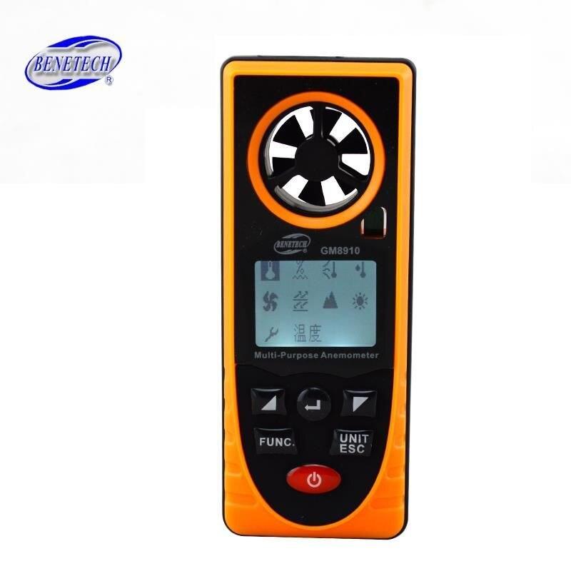GM8910 Multi-functional digital anemometer wind chill dew point barometric pressure tester Speed Measuring With retail box eduard vilde liha