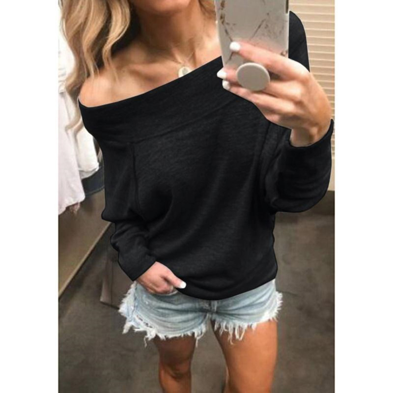 Spring Autumn Hoodies Sweatshirt Women Sexy Off Shoulder Long Sleeve Pullovers Casual Tracksuit Ladies Tops Tee Sudaderas Mujer