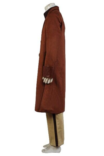 Высокое качество Malcolm Reynolds косплей костюм Взрослый коричневый плащ + рубашка + брюки + ремень + подтяжки ПОЛНЫЙ КОМПЛЕКТ Хэллоуин карнавал - 3