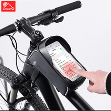 Bicycle Bag Waterproof Front Bike Cycling 6 inch Mobile Phone Top Tube Handlebar Bags Mountain Accessories