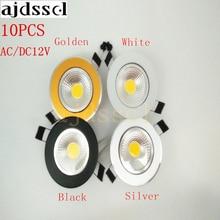 10PCS/lot Super Bright Recessed LED Dimmable Downlight COB 3W 5W 7W 12W LED Spot light LED decoration Ceiling Lamp AC/DC 12V 3w high power led downlight decoration 10pcs
