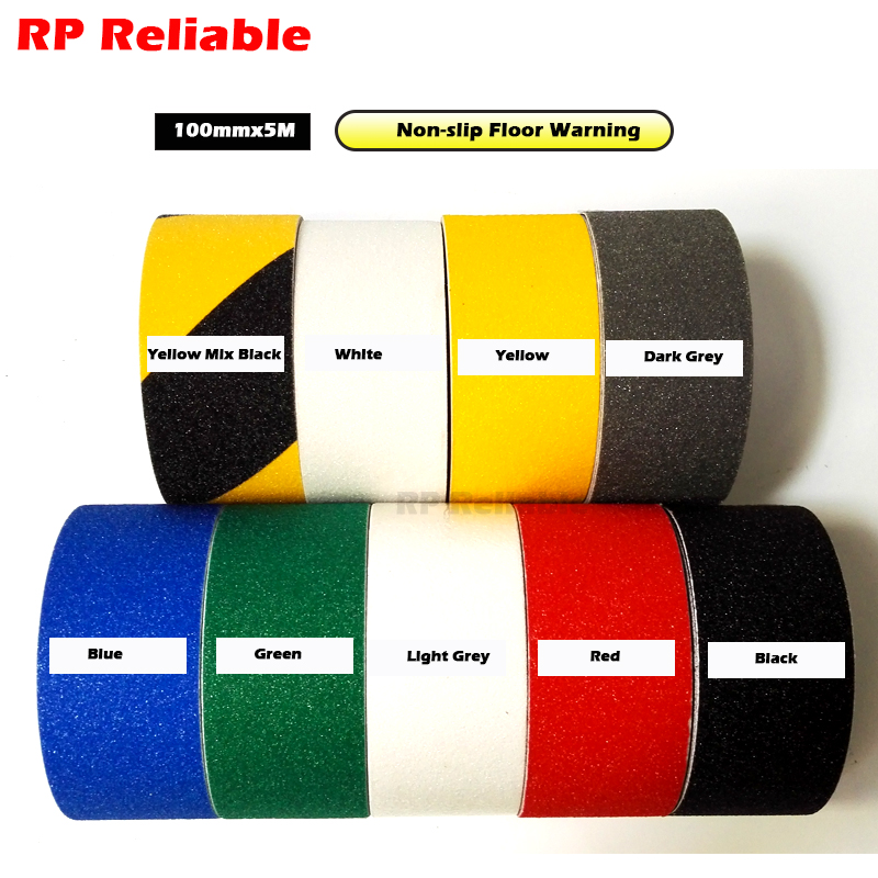 (10cm)100mm*5M Self Adhesive Anti-skip slip Rough Abrasive Tape Ribbon for Work Area, Stairs, Floor Stage, Bathroom beach starfish sunrise print non skip floor area rug