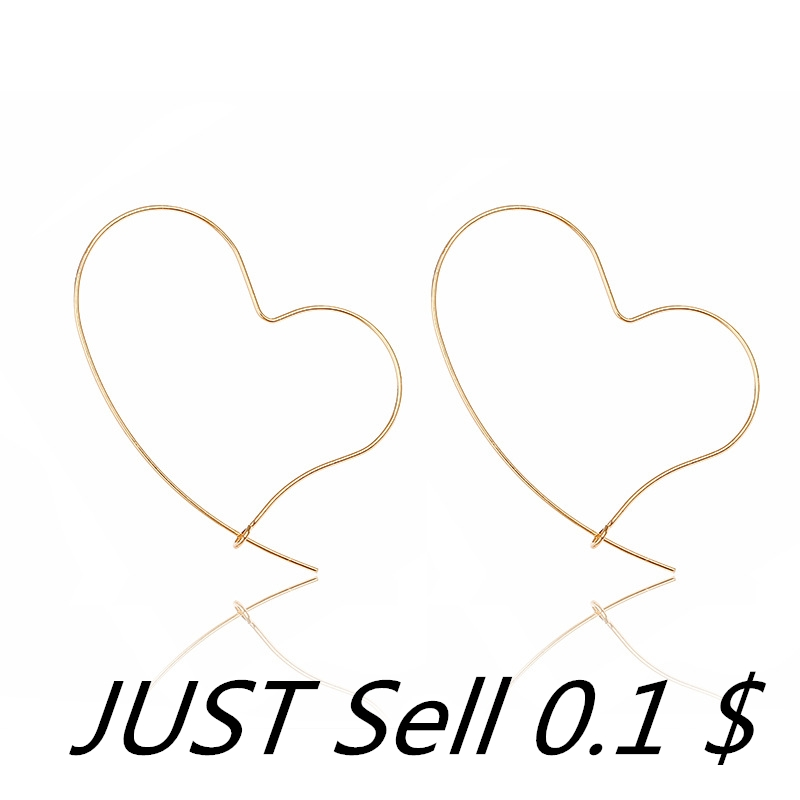 European and American simple earrings sweet temperament metal line love fashion earrings for Women and Girls Accessories