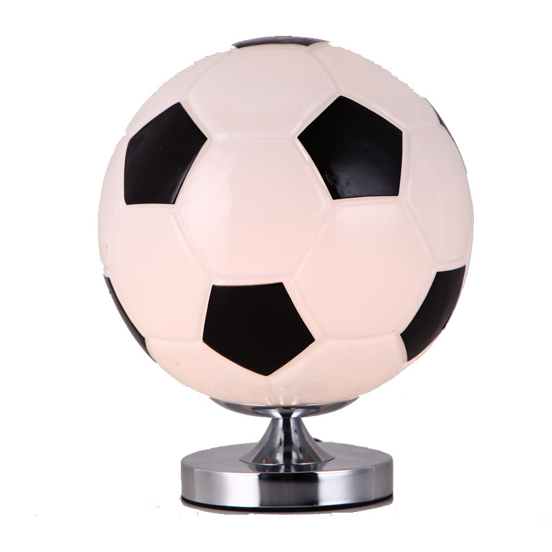 LED Table Lamp Football desk lamp, Soccer Glass lamp for Kids Boy Bedroom, gift for boy reading room